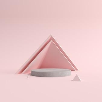 Abstract scene of geometry podium product presentation