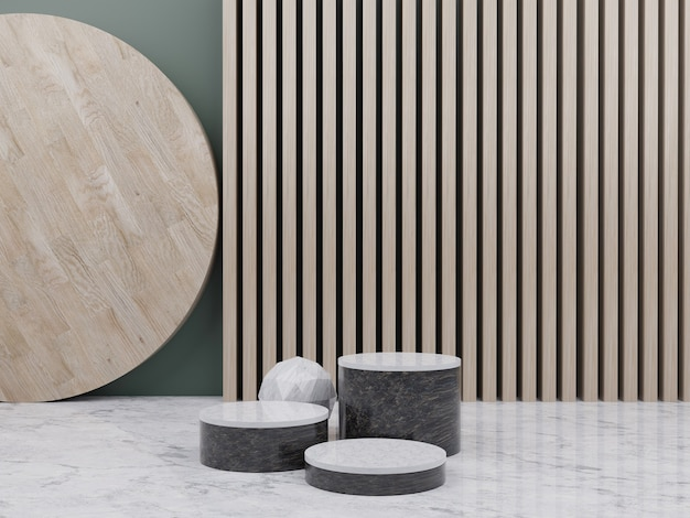 Abstract scene for product display wood
