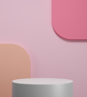 Abstract scene to show cosmetic products