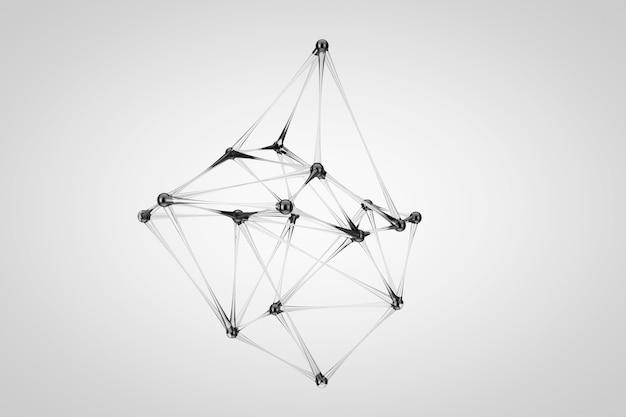 Абстрактная наука медицинская структура атома или молекулы стекла на белом фоне. 3d рендеринг