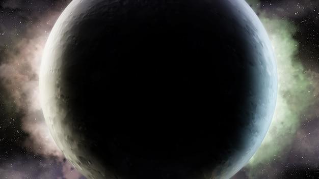 우주 공간에서 우주 장면의 추상 과학적 배경