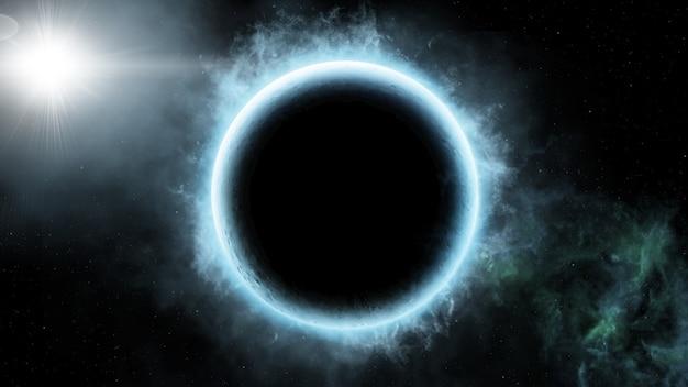 Аннотация научного фона вселенной сцены в космическом пространстве