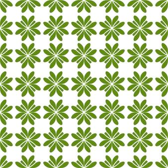 Абстрактные бесшовные зеленые листья на белом фоне
