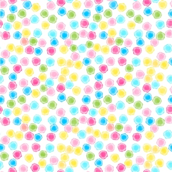 Abstract seamless multicolor watercolor dot background