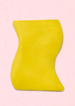 Abstract shape clay craft irregular textured shape in yellow diy creative art