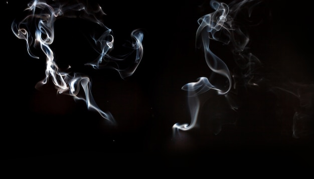 Abstract shapes of smoke