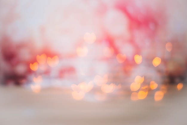 Abstract shines in redness on bokeh background