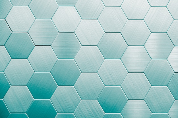 Abstract silver metal background. geometric hexagons.