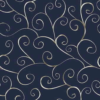 Abstract silver seamless pattern in oriental style on navy blue background. can be used for wallpaper, wrapping, textile, web page background.
