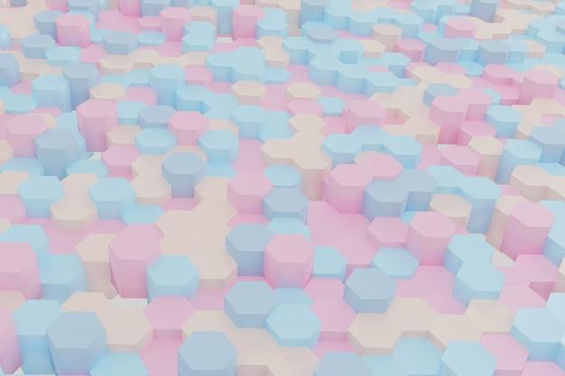 抽象的なシンプルな六角形の背景
