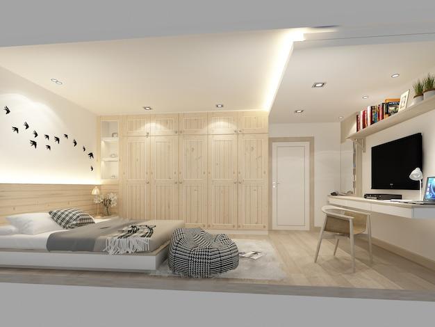 Абстрактный эскиз дизайна интерьера спальни