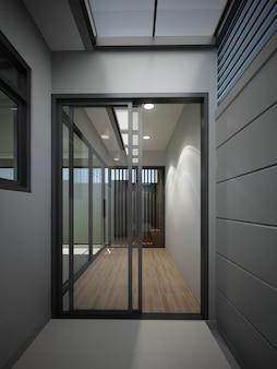 Абстрактный эскиз дизайна интерьера дома, 3d-рендеринг