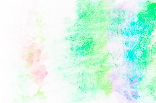 緑色の塗料の抽象的な汚れ