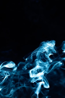 Abstract smoke image on black background , mystery effect.