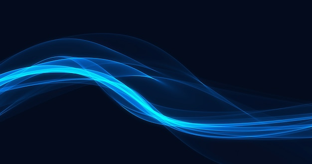 Abstract smooth blue light streak wave background