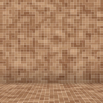 Abstract smooth brown mosiac texture background