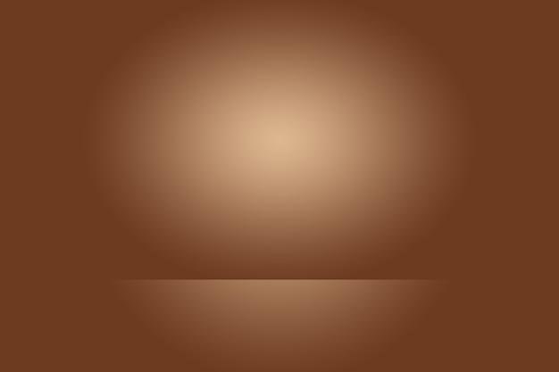 抽象的な滑らかな茶色の壁の背景レイアウトデザイン、スタジオ、部屋、webテンプレート、滑らかな円のグラデーションカラーのビジネスレポート。