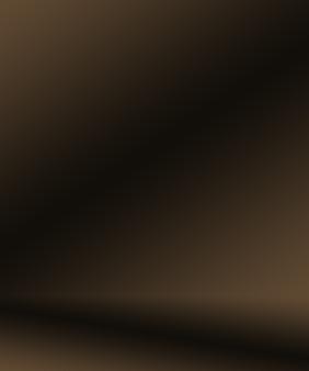 Progettazione del layout del fondo della parete marrone liscia astratta, studio, camera, modello web, relazione aziendale con colore sfumato del cerchio liscio.