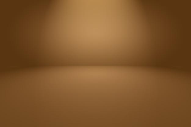 滑らかな円のグラデーションカラーで抽象的な滑らかな茶色の壁の背景。