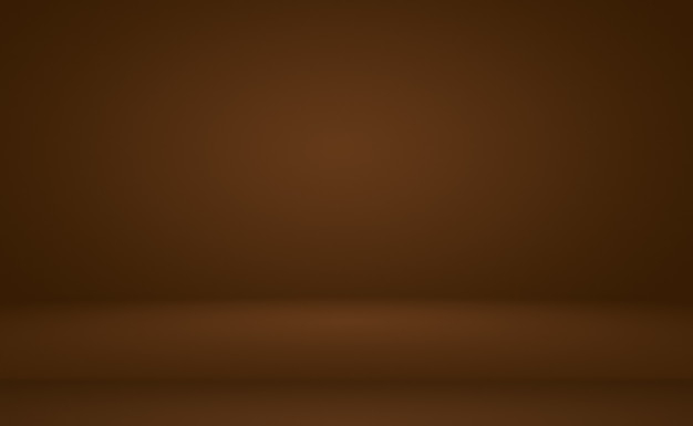 Abstract smooth brown wall background with smooth circle gradient color