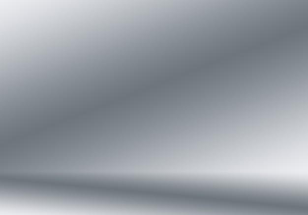 Lo studio grigio vuoto liscio astratto bene utilizza come sfondo, report aziendale, digitale, modello di sito web, sfondo.