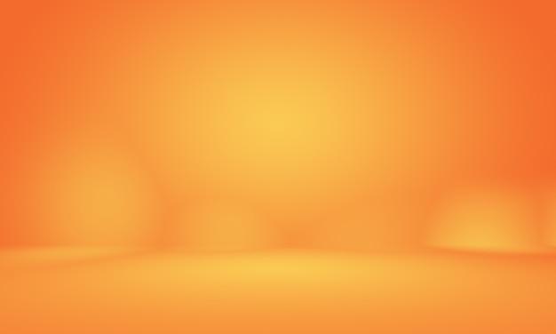 Абстрактный гладкий оранжевый дизайн фона макета, студия, комната, веб-шаблон, бизнес-отчет с плавным кругом градиентного цвета.