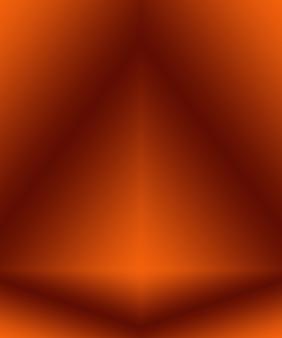 Progettazione di layout di sfondo arancione liscio astratto, studio, stanza, modello web, relazione aziendale con colore sfumato del cerchio liscio