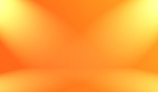 Абстрактный гладкий оранжевый фон дизайн макета, студия, комната, веб-шаблон, бизнес-отчет с плавным кругом градиентного цвета.