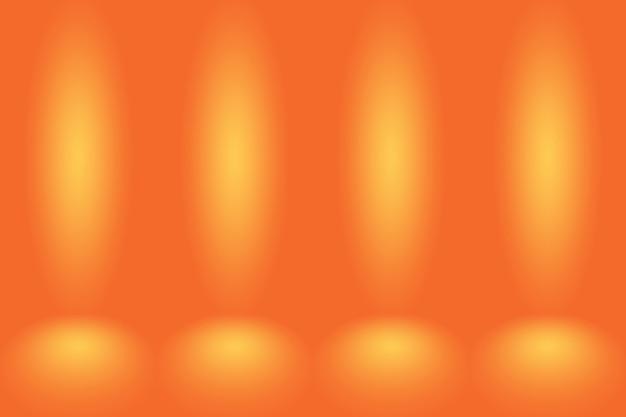 Progettazione di layout di sfondo arancione liscio astratto, studio, camera, modello web, relazione aziendale con colore sfumato del cerchio liscio.