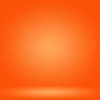 抽象的な滑らかなオレンジ色の背景レイアウトデザイン、、 webテンプレート、滑らかな円のグラデーションカラーのビジネスレポート