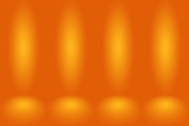 Abstract smooth orange background smooth circle gradient color.
