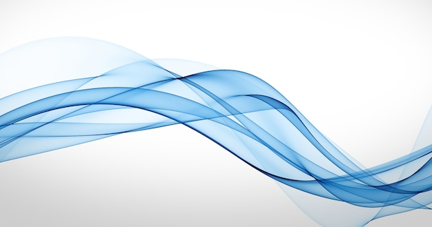 Abstract smoth blue motion lines background