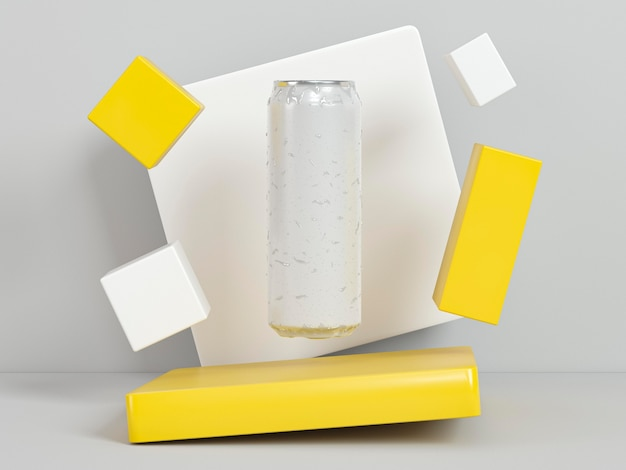 Abstract soda container presentation