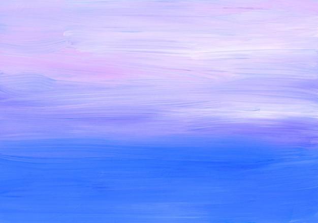 Абстрактный мягкий синий, фиолетовый, розовый и белый фон. мазки по бумаге.