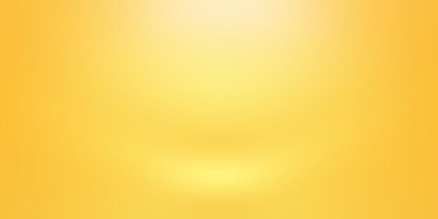 빛나는 노란색 그라데이션 스튜디오 벽 룸 배경의 추상 솔리드.