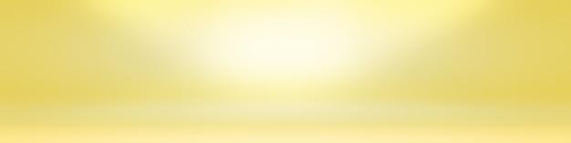 輝く黄色のグラデーションスタジオの壁の部屋の背景の抽象的な固体