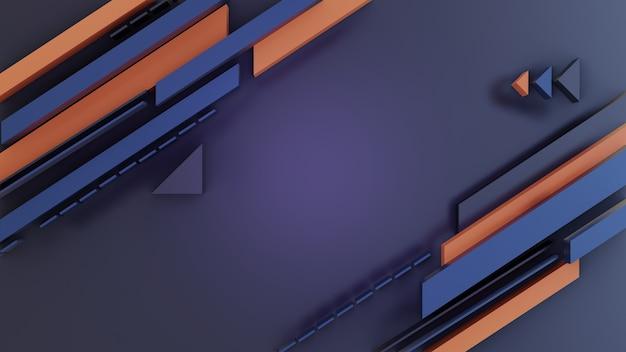 3d 스타일에 추상 단색 모양 배경