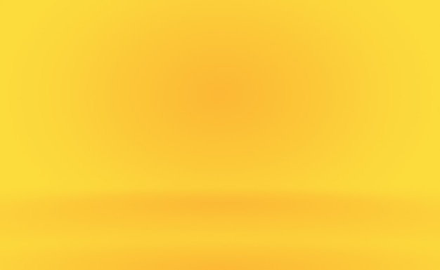 Abstract solid of shining yellow gradient studio wall room background