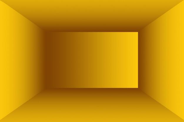 Solido astratto del fondo della stanza della parete dello studio di gradiente giallo brillante