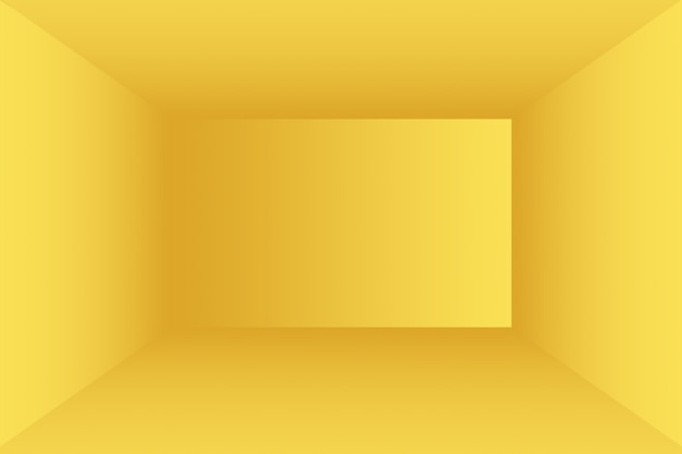 Solido astratto di fondo della stanza della parete dello studio di gradiente giallo brillante.
