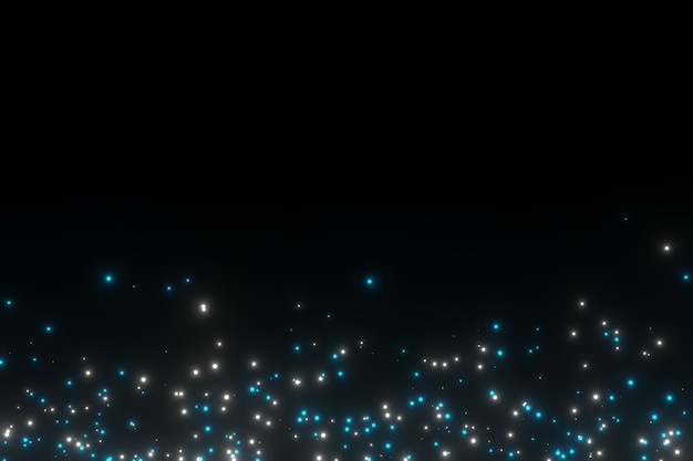 Абстрактные искры светящиеся частицы пыли рендеринг 3d