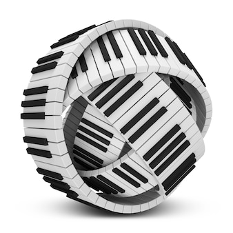 Abstract sphere from piano keys