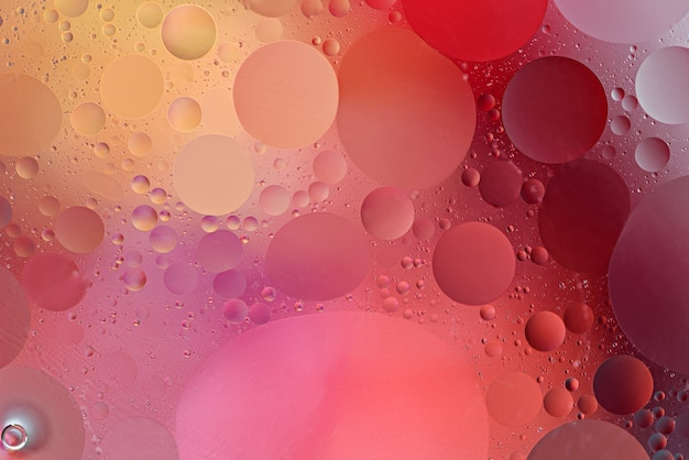 Abstract spherical circles on color gradient background, wallpaper concept
