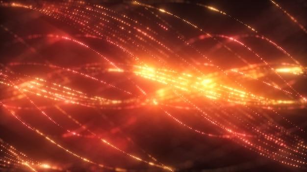 粒子と抽象的なスパイラル背景