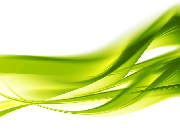 Abstract spring background with smooth green lines