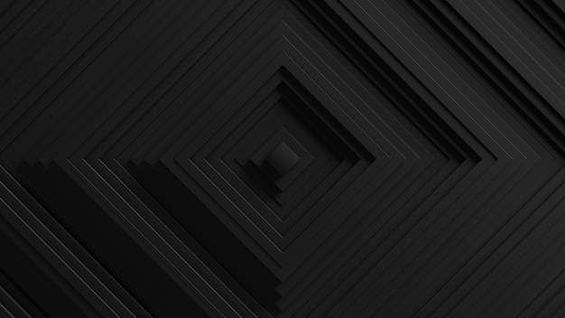 Abstract square blinds oscillation background. . 3d walls wavy surface. geometric elements displacement.