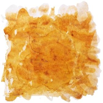 抽象的な正方形のオレンジブラウンの孤立した汚れ