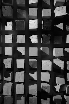 Abstract squares black and white texture background