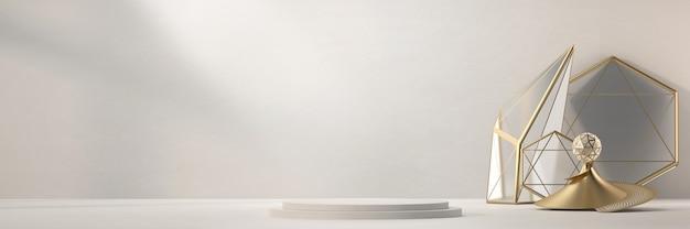 제품 디스플레이 광고를위한 추상 무대 플랫폼 연단 및 개체