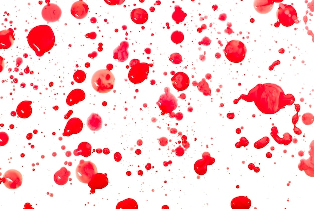 Abstract stain drip ink drops isolated on a white background.